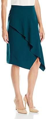 Lark & Ro Women's Asymetric Drape Skirt
