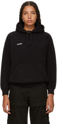 Vetements Black Fitted Inside-Out Hoodie