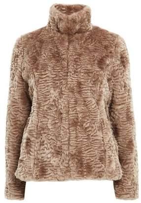 Wallis Petite Mink Faux Fur Coat