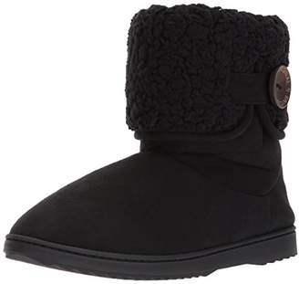 Dearfoams Women's MFS Boot w Notch Sherpa Cuff