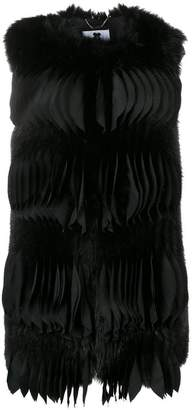Blumarine textured pleat gilet