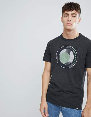Pretty Green retro logo t-shirt in dark gray marl