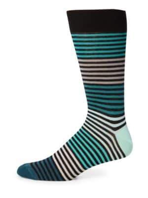 Saks Fifth Avenue COLLECTION Multi-Tonal Striped Socks