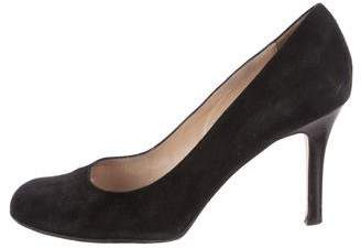 Kate Spade New York Suede Round-Toe Pumps