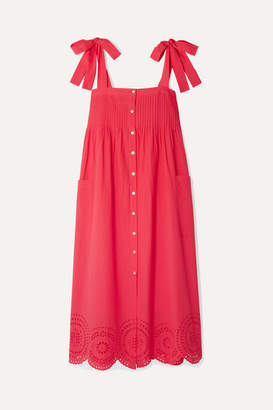 Hatch Sylvie Broderie Anglaise Cotton-voile Midi Dress