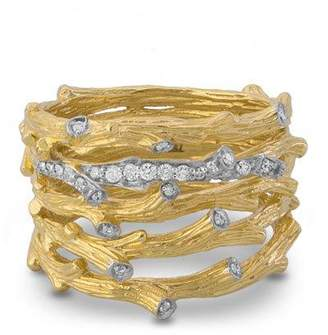 Michael Aram 18k Enchanted Forest Multi-Row Ring w/ Diamonds