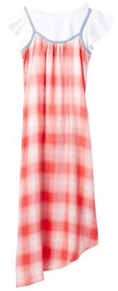 Tommy Hilfiger Asymmetrical Plaid Dress - 2 Piece Set (Big Girls)
