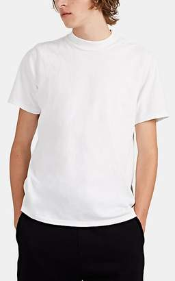 Les Tien Men's Cotton Mock-Turtleneck T-Shirt - White