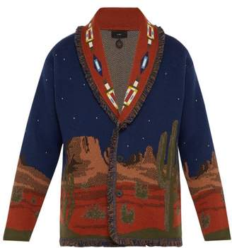 Alanui Midnight Landscape Cashmere Cardigan - Mens - Brown Multi