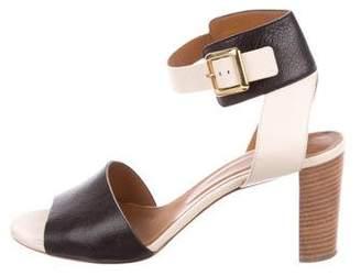 Chloé Bi-Color Leather Sandals
