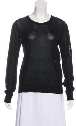 A.L.C. Semi-Sheer Knit Long Sleeve Top