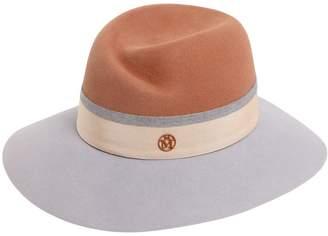 Maison Michel Virginie Bicolor Rabbit Fur Felt Hat
