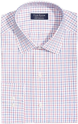 Club Room Men's Classic/Regular-Fit Wrinkle-Resistant Tattersall Plaid Dress Shirt, Created for Macy's