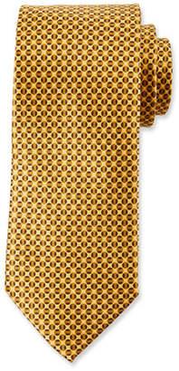 Canali Men's Tonal Circles Silk Tie, Gold