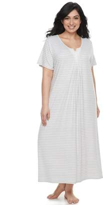Croft & Barrow Plus Size Lace Trim Nightgown
