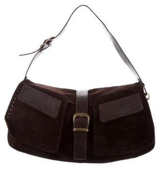 Barbara Bui Suede & Leather Shoulder Bag