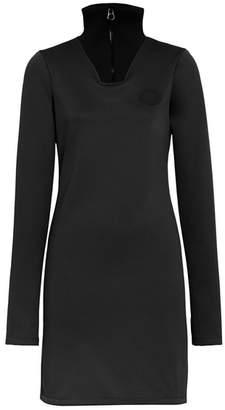 Burberry Zip Detail Funnel Neck Mini Dress