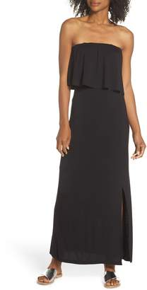 Fraiche by J Strapless Popover Maxi Dress