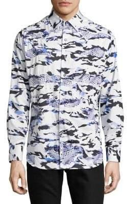 Robert Graham Scales Printed Long-Sleeve Shirt
