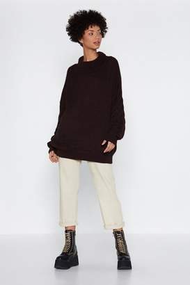 Nasty Gal Warm Your Heart Oversized Sweater