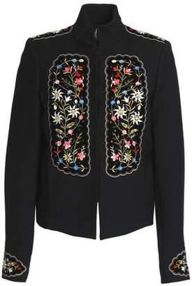 Vilshenko Embellished Velvet-Appliquéd Gabardine Jacket