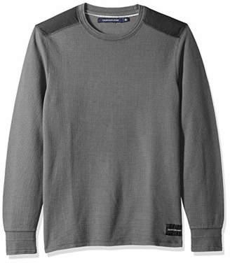 Calvin Klein Jeans Men's Long Sleeve Waffle Crew Neck Shirt