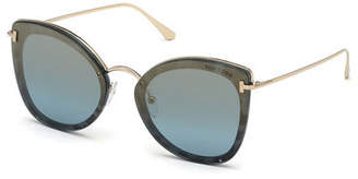 Tom Ford Charlotte Butterfly Lens-Over-Frame Sunglasses