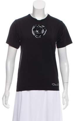 Oscar de la Renta Embellished Short Sleeve T-Shirt