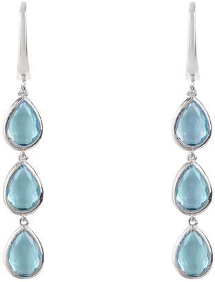 Latelita London - Sorrento Triple Drop Earring Silver Blue Topaz