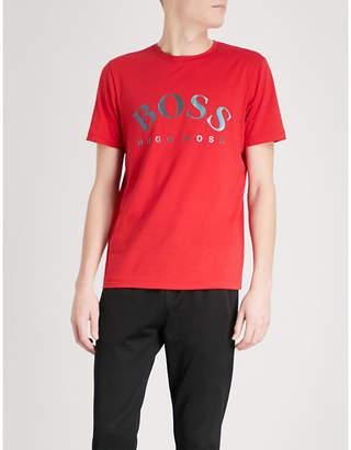 BOSS GREEN Logo-print cotton T-shirt