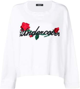 Undercover embroidered rose sweatshirt
