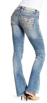 Rock Revival Crystal Embellished Boot Cut Jeans