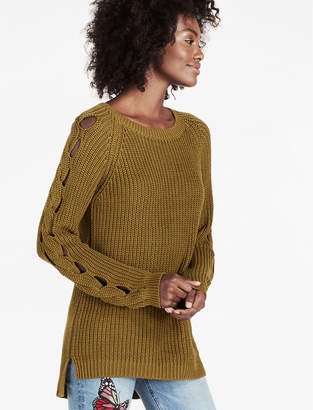 Lucky Brand BRAID PULLOVER SWEATER