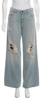 Alexander Wang Denim x Distressed Mid-Rise Jeans