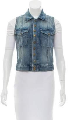 Current/Elliott Denim Button-Up Vest
