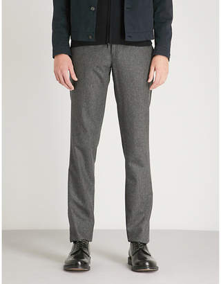SLOWEAR Wool flannel slim-fit trousers