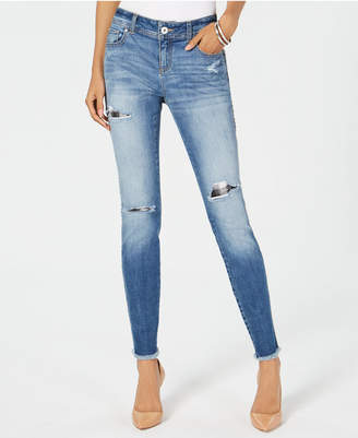 INC International Concepts I.n.c. Curvy Ripped & Repaired Skinny Jeans, Created for Macy's