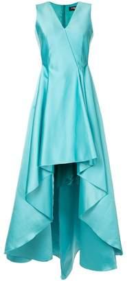 Paule Ka deep v-neck gown