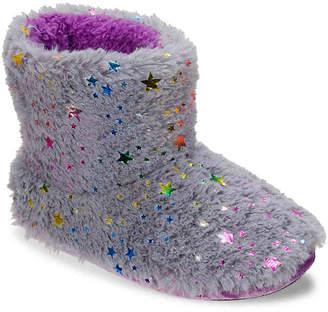 Dearfoams Star Pile Toddler & Youth Boot Slipper - Girl's