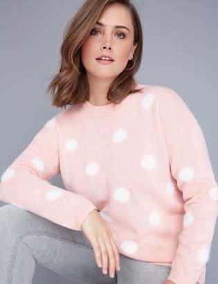 Lane Bryant Fast Lane Furry Dot Sweater