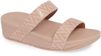 FitFlop Lottie Chevron Wedge Slide Sandal