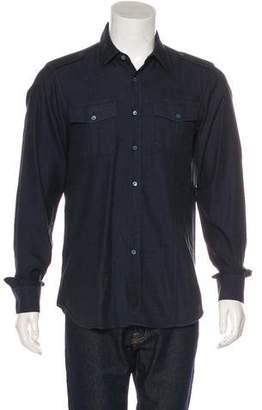 Burberry Epaulet Embellished Woven Shirt