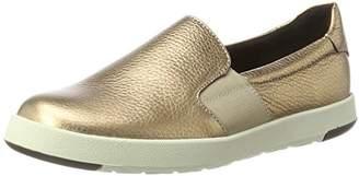 Aerosoles Women's Board Ship Miami Gold Loafers,40.5 EU