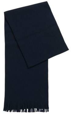 BOSS Structured-knit oversized scarf in pure wool