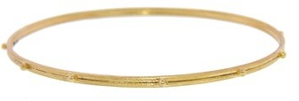Armenta Thin Granulated Bangle in Gold