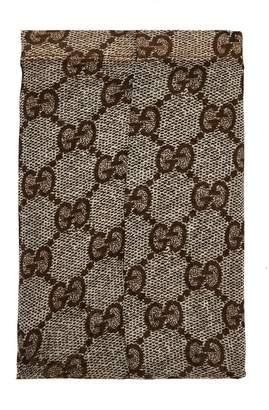 Gucci Logo-embellished snakeskin-print tights