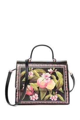 Ted Baker Jarita Peach Blossom Crosshatch Large Tote Bag