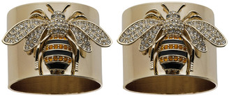 Joanna Buchanan StrIpy Bee Napkin Ring - Set of 2