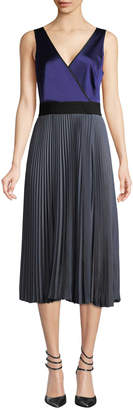 Diane von Furstenberg Women's Pleated Faux Wrap Dress