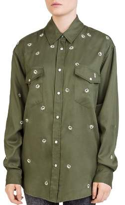 The Kooples Embroidered-Daisy Shirt